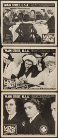 "Movie Posters:Documentary, The March of Time (Time-Life Productions, 1941). Lobby Cards (3) (11"" X 14"") Volume 8, Issue 4 --""Main Street, U.S.A."" Docum... (Total: 3 Items)"