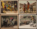 "Movie Posters:Western, It Happened Out West and Others Lot (Merit, 1923). Lobby Cards (4) (11"" X 14""). Western.. ... (Total: 4 Items)"