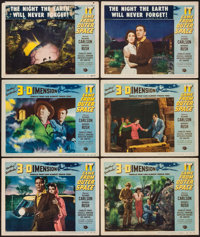 "It Came from Outer Space (Universal International, 1953). Lobby Cards (6) (11"" X 14"") 3-D Style. Science Ficti..."