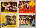 """Movie Posters:Elvis Presley, Love Me Tender & Others Lot (20th Century Fox, R-1956). Lobby Cards (3) Title Lobby Card, & Lobby Card Set of 8 (11"""" X 14"""").... (Total: 12 Items)"""