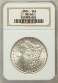 Morgan Dollars: , 1886 $1 MS66 NGC. NGC Census: (4891/880). PCGS Population(2523/266). Mintage: 19,963,886. Numismedia Wsl. Price forproble...