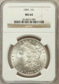 Morgan Dollars: , 1884 $1 MS64 NGC. NGC Census: (6600/2168). PCGS Population(5330/2499). Mintage: 14,070,875. Numismedia Wsl. Price for prob...