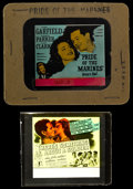 "Movie Posters:War, Pride of the Marines & Others Lot (Warner Brothers, 1945).Glass Slides (2) (3.25"" X 4"" in original holders) & GlassSlides ... (Total: 5 Items)"