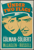 "Movie Posters:Adventure, Under Two Flags (20th Century Fox, 1936). Leader Press One Sheet (28"" X 41""). Adventure.. ..."