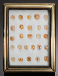 "Gems:Cabochons, ""ALPHABET"" AGATE COLLECTION. Indonesia. ..."