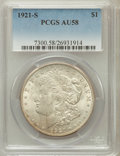 Morgan Dollars: , 1921-S $1 AU58 PCGS. PCGS Population (342/9144). NGC Census:(180/10513). Mintage: 21,695,000. Numismedia Wsl. Price for pr...
