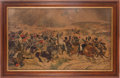"Militaria:Ephemera, ""Fuentes Onoro, May 5th, 1811"" Print...."