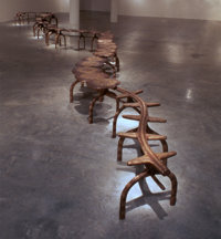 TERENCE MAIN (American, b. 1954) Terrestrial Tale, 1996 Cast bronze Eight modular sections, each