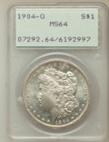 Morgan Dollars: , 1904-O $1 MS64 PCGS. PCGS Population (46611/11396). NGC Census:(58934/17176). Mintage: 3,720,000. Numismedia Wsl. Price fo...