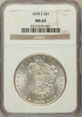 Morgan Dollars: , 1878-S $1 MS65 NGC. NGC Census: (3963/507). PCGS Population(3635/613). Mintage: 9,774,000. Numismedia Wsl. Price for probl...