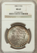Morgan Dollars: , 1882-O $1 MS63 NGC. NGC Census: (5566/5987). PCGS Population(7346/5825). Mintage: 6,090,000. Numismedia Wsl. Price for pro...