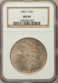 Morgan Dollars: , 1882-O $1 MS64 NGC. NGC Census: (5501/497). PCGS Population(5080/755). Mintage: 6,090,000. Numismedia Wsl. Price for probl...
