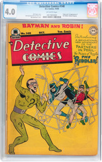Detective Comics #140 (DC, 1948) CGC VG 4.0 Off-white pages