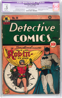 Detective Comics #38 Incomplete (DC, 1940) CGC Apparent PR 0.5 Slight (A) Cream to off-white pages