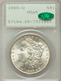 Morgan Dollars: , 1888-O $1 MS65 PCGS. CAC. PCGS Population (1765/217). NGC Census:(1329/42). Mintage: 12,150,000. Numismedia Wsl. Price for...