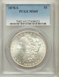 Morgan Dollars: , 1878-S $1 MS65 PCGS. PCGS Population (3635/613). NGC Census:(3963/507). Mintage: 9,774,000. Numismedia Wsl. Price for prob...
