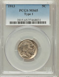 Buffalo Nickels: , 1913 5C Type One MS65 PCGS. PCGS Population (3231/2224). NGCCensus: (2363/1502). Mintage: 30,993,520. Numismedia Wsl. Pric...