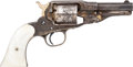Handguns:Single Action Revolver, Scarce Engraved, Silver-Plated and Gold-Washed New Model Remington .38 Conversion Single Action Pocket Revolver. ...