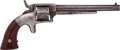 Handguns:Muzzle loading, Scarce Bacon Manufacturing Company 1st Type Navy Model Spur TriggerRevolver. ...