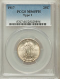 Standing Liberty Quarters, 1917 25C Type One MS65 Full Head PCGS. PCGS Population (991/445).NGC Census: (729/374). Mintage: 8,740,000. Numismedia Wsl...