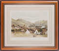 """Military & Patriotic:Foreign Wars, Crimean War Chromolithograph of """"Balaklava, Looking Towards the Sea""""...."""