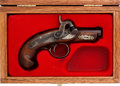 Handguns:Derringer, Palm, Cased Reproduction Philadelphia Percussion Derringer....