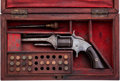 Handguns:Single Action Revolver, Cased Smith & Wesson Model No. 1 1/2 First Issue Spur Trigger Pocket Revolver....