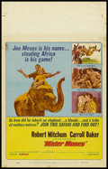 "Movie Posters:Adventure, Mister Moses (United Artists, 1965). Window Card (14"" X 22"").Adventure. Directed by Ronald Neame. Starring Robert Mitchum, ..."