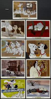 """One Hundred and One Dalmatians (Buena Vista, R-1979). Lobby Card Set of 9 (11"""" X 14""""). Animated. Directed by C..."""