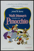 """Movie Posters:Animated, Pinocchio (Buena Vista, R-1978). One Sheet (27"""" X 41"""") Tri-Folded. Family. Directed by Walt Disney, Norman Ferguson, Wilfred..."""