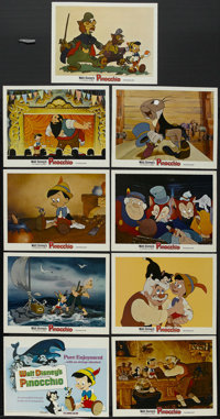 "Pinocchio (Buena Vista, R-1978). Lobby Card Set of 9 (11"" X 14""). Family. Directed by Walt Disney, Norman Ferg..."