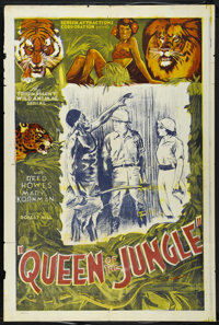 """Queen Of The Jungle (Screen Attractions Corp., 1935). One Sheet (27"""" X 41""""). Adventure Serial. Directed by Rob..."""