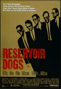 """Reservoir Dogs (Miramax, 1992). One Sheet (27"""" X 40""""). Crime Thriller. Directed by Quentin Tarantino. Starring..."""