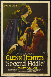 "Second Fiddle (Hodkinson Pictures, 1923). One Sheet (27"" X 41"") Style A. Drama. Directed by Frank Tuttle. Star..."