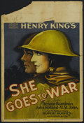 """Movie Posters:Drama, She Goes to War (United Artists, 1929). Window Card (14"""" X 22""""). War. Directed by Henry King. Starring Eleanor Boardman, Joh..."""