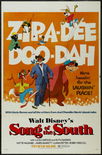 """Song of the South (Buena Vista, R-1972). One Sheet (27"""" X 41""""). Live Action/Animated Musical. Directed by Harv..."""