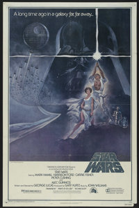 """Star Wars (20th Century Fox, 1977). One Sheet (27"""" X 41"""") Style A. Science Fiction. Directed by George Lucas..."""