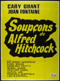 "Movie Posters:Hitchcock, Suspicion (RKO, R-1950s). French Grande (46"" X 63""). Thriller.Directed by Alfred Hitchcock. Starring Joan Fontaine, Cary Gr..."