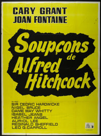 """Suspicion (RKO, R-1950s). French Grande (46"""" X 63""""). Thriller. Directed by Alfred Hitchcock. Starring Joan Fon..."""