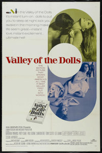 """Valley of the Dolls (20th Century Fox, 1967). One Sheet (27"""" X 41""""). Drama. Directed by Mark Robson. Starring..."""
