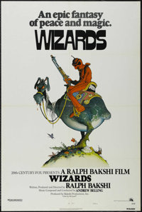 """Wizards (Twentieth Century Fox, 1977). One Sheet (27"""" X 41"""") Style A. Animated Fantasy. Directed by Ralph Baks..."""