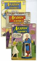 Silver Age (1956-1969):Superhero, Action Comics #256-262 Group (DC, 1959-60) Condition: Average VG-. Group of seven Action Comics includes #256, 257, 258,... (Total: 7)