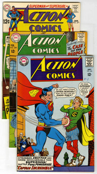 Action Comics Group (DC, 1967-69) Condition: Average VF/NM. Includes #354, 359, 371, 372, and 375. Artists include Curt...