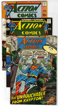 Action Comics Group (DC, 1968-71) Condition: Average NM-. Includes #364, 374, 377, 378, 379, 380, 388 (Sgt. Rock appeara...