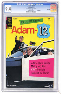 Adam 12 #1 File Copy (Gold Key, 1973) CGC NM 9.4 White pages. Photo cover. Overstreet 2006 NM- 9.2 value = $95. CGC cens...