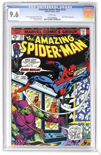 The Amazing Spider-Man #137 (Marvel, 1974) CGC NM+ 9.6 White pages. Green Goblin appearance (the second time Harry Osbor...