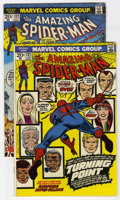 Bronze Age (1970-1979):Superhero, The Amazing Spider-Man #121 and 122 Group (Marvel, 1973). Issues #121 (death of Gwen Stacy - FN+) and #122 (death of Green G... (Total: 2 Comic Books)