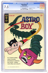 """Astro Boy #1 File Copy (Gold Key, 1965) CGC VF 8.0 Off-white to white pages. Overstreet lists as """"scarce."""" Fir..."""