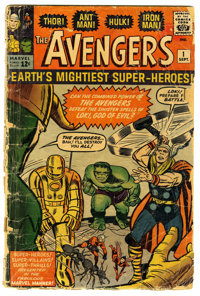 The Avengers #1 (Marvel, 1963) Condition: FR. Origin and first appearance of the Avengers (Thor, Iron Man, Hulk, Ant-Man...