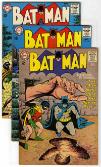 Batman Group (DC, 1964-67) Condition: Average VG/FN. Includes #165, 166, 167, 171 (first Silver Age appearance of the Ri...